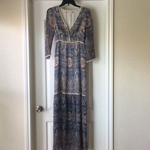 Chelsea and Violet maxi paisley dress